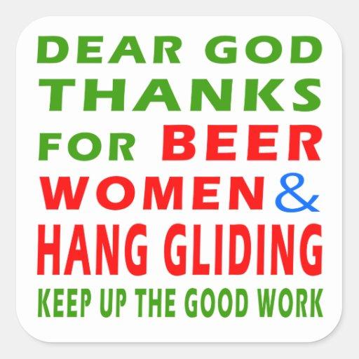 Las estimadas gracias de dios por mujeres de la pegatina cuadrada