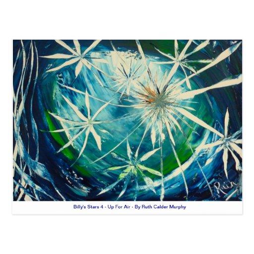 Las estrellas 4 - para arriba para el aire - Ruth  Tarjetas Postales
