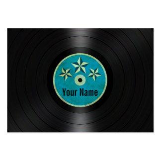 Las estrellas azules personalizaron el álbum de di plantillas de tarjetas personales