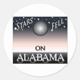 Las estrellas cayeron en Alabama Pegatina Redonda