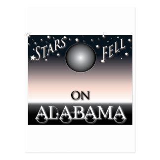 Las estrellas cayeron en Alabama Tarjeta Postal