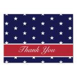 Las estrellas de la bandera americana le agradecen invitación 8,9 x 12,7 cm