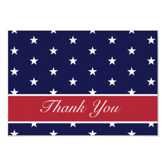 """Las estrellas de la bandera americana le agradecen invitación 3.5"""" x 5"""""""