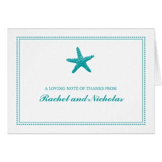 Las estrellas de mar agraciadas el | le agradecen tarjeta pequeña
