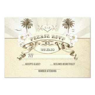 las estrellas de mar de las palmas del boda de invitacion personalizada