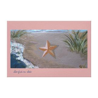 Las estrellas de mar en galería de la pizarra envo lienzo envuelto para galerias