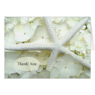 Las estrellas de mar florales del blanco de jardín tarjeta pequeña