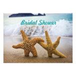 Las estrellas de mar juntan la invitación nupcial