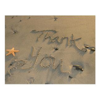 Las estrellas de mar le agradecen postal