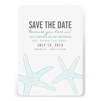 Las estrellas de mar lindas ahorran la tarjeta de