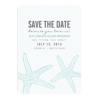Las estrellas de mar lindas ahorran la tarjeta de comunicado personalizado