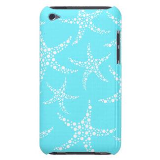 Las estrellas de mar modelan en turquesa y blanco iPod touch Case-Mate protector