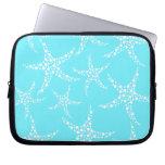 Las estrellas de mar modelan en turquesa y blanco manga computadora