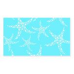 Las estrellas de mar modelan en turquesa y blanco plantilla de tarjeta personal