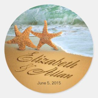 Las estrellas de mar PIDEN que DIBUJE NOMBRES EN Pegatina Redonda