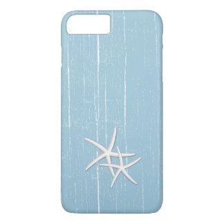 Las estrellas de mar rústicas acuñan tema azul de funda iPhone 7 plus