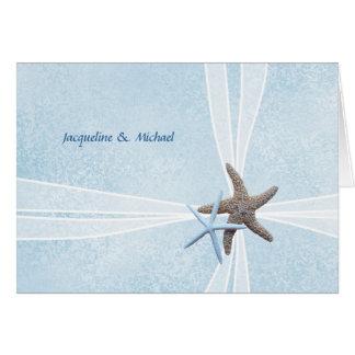 Las estrellas de mar se juntan, boda de la caja de tarjeta pequeña
