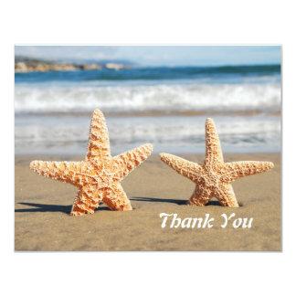 """Las estrellas de mar se juntan en la playa le invitación 4.25"""" x 5.5"""""""