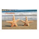 Las estrellas de mar se juntan en la recepción nup tarjeta de visita