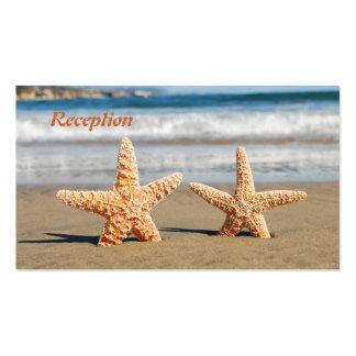Las estrellas de mar se juntan en la recepción tarjetas de visita