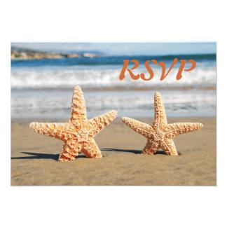 Las estrellas de mar se juntan en la tarjeta de RS Invitaciones Personales