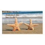 Las estrellas de mar se juntan en las tarjetas del tarjeta de visita
