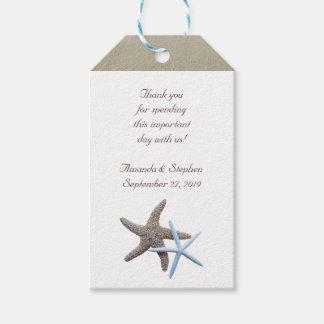 Las estrellas de mar se juntan le agradecen favor etiquetas para regalos
