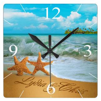 Las estrellas de mar se juntan PIDEN que PONGA Reloj Cuadrado