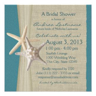 Las estrellas de mar y la arpillera miran la ducha anuncios personalizados