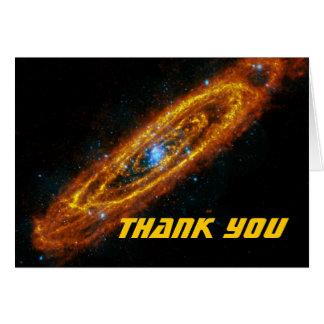 Las estrellas del Andromeda le agradecen tarjeta d