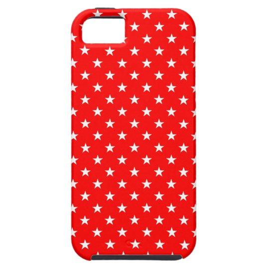 Las estrellas del rojo y del blanco modelaron el funda para iPhone SE/5/5s