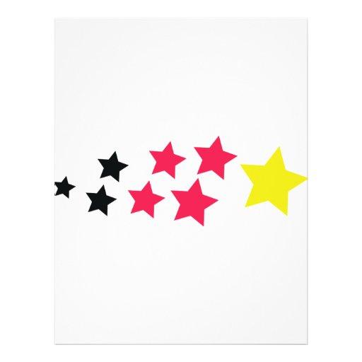 las estrellas en alemán colorean el icono tarjetas publicitarias