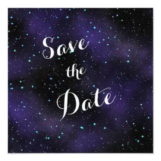 Las estrellas en el cielo nocturno ahorran el boda comunicado