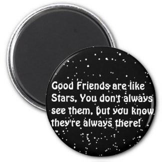 las estrellas están como amigos siempre allí imanes para frigoríficos