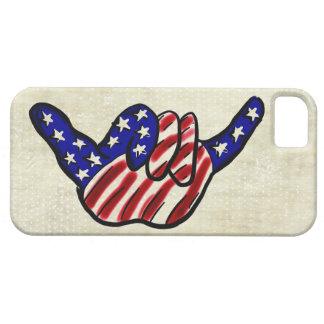 Las estrellas flojas de la caída patriótica rayan iPhone 5 carcasa