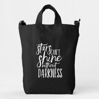 Las estrellas no pueden brillar sin el bolso del bolsa de lona duck
