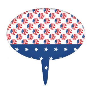 Las estrellas patrióticas rayan la bandera de la l palillos de tarta