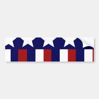 Las estrellas patrióticas rayan la bandera de la l pegatina de parachoque