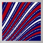 Las estrellas patrióticas rayan la bandera de la l poster
