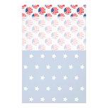 Las estrellas patrióticas rayan la bandera de la l papeleria