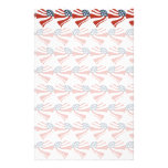 Las estrellas patrióticas rayan los corazones 4tos papeleria de diseño