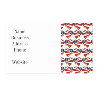 Las estrellas patrióticas rayan los corazones 4tos tarjetas de visita