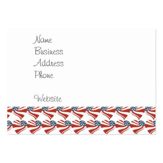 Las estrellas patrióticas rayan los corazones 4tos tarjetas de visita grandes