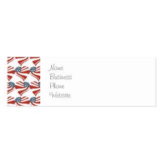 Las estrellas patrióticas rayan los corazones 4tos tarjetas de visita mini