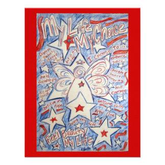 Las estrellas y el ángel de las rayas invitan a ta invitaciones personales