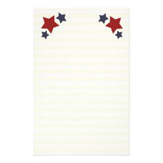 Las estrellas y las rayas alinearon los efectos de papelería