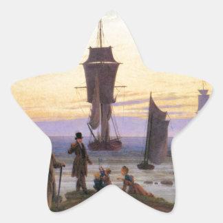 Las etapas de la vida de Caspar David Friedrich Pegatina En Forma De Estrella