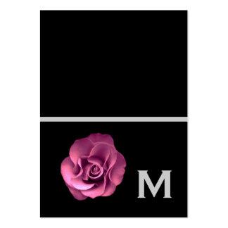 Las etiquetas color de rosa rosadas del regalo de tarjetas de visita grandes