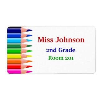 Las etiquetas conocidas del profesor colorido etiquetas de envío