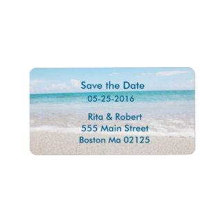 Las etiquetas de dirección ahorran la fecha